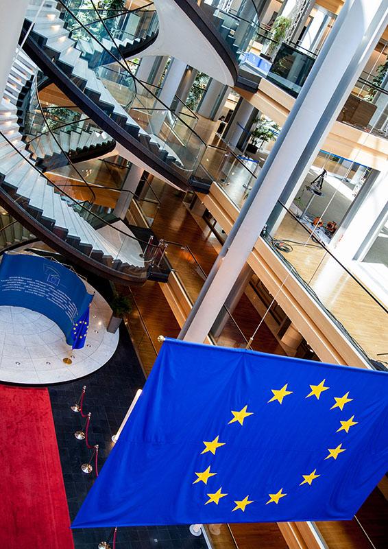 Summer season at the European Parliament in Strasbourg - Spiral staircase