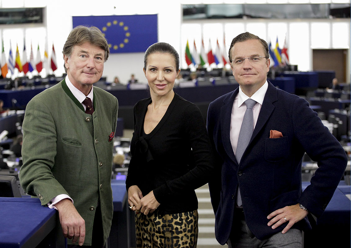 Georg MAYER and MEPs in Plenary Chamber in Strasbourg