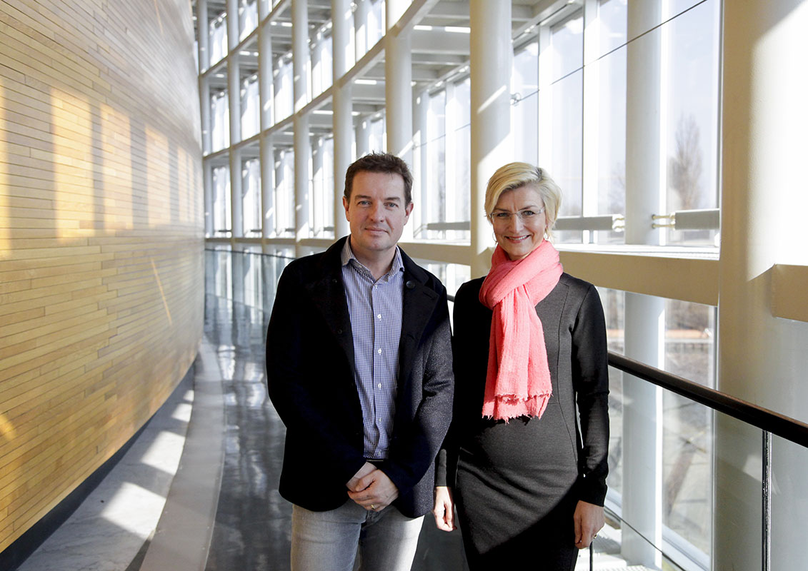 Jens ROHDE and Ulla TORNAES in EP in Strasbourg