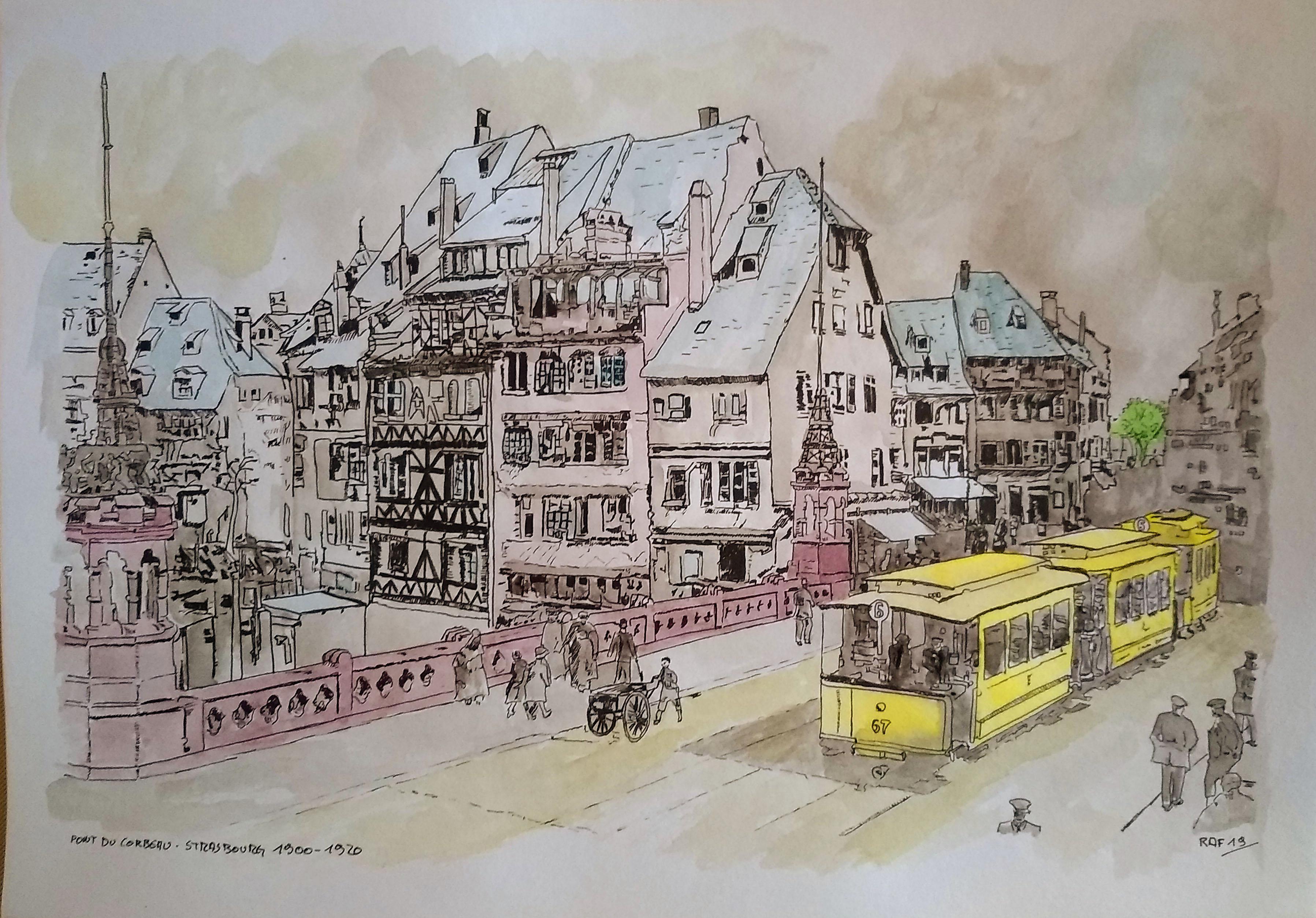 Strasbourg - pont corbeau