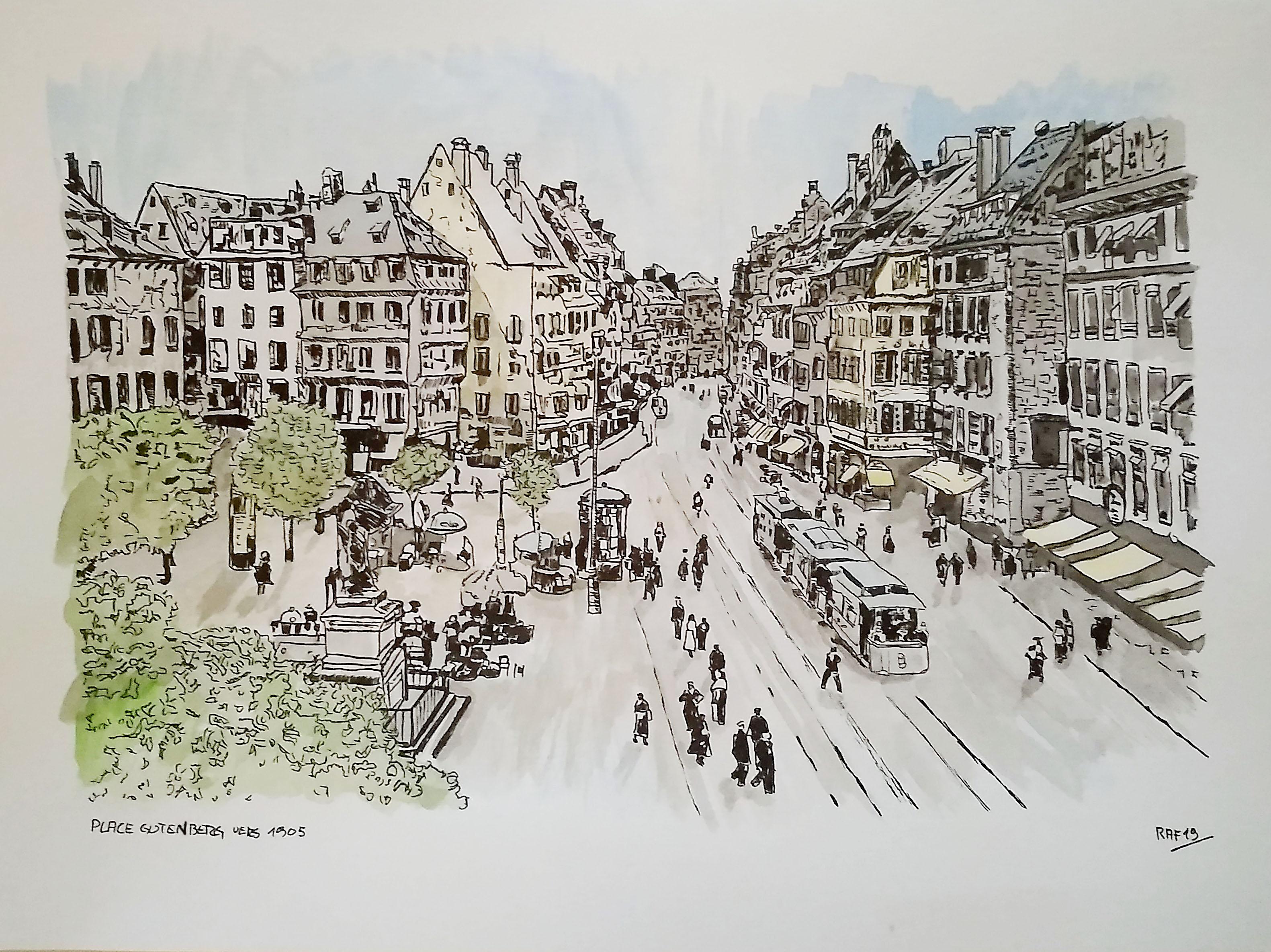 Strasbourg - place Gutenberg
