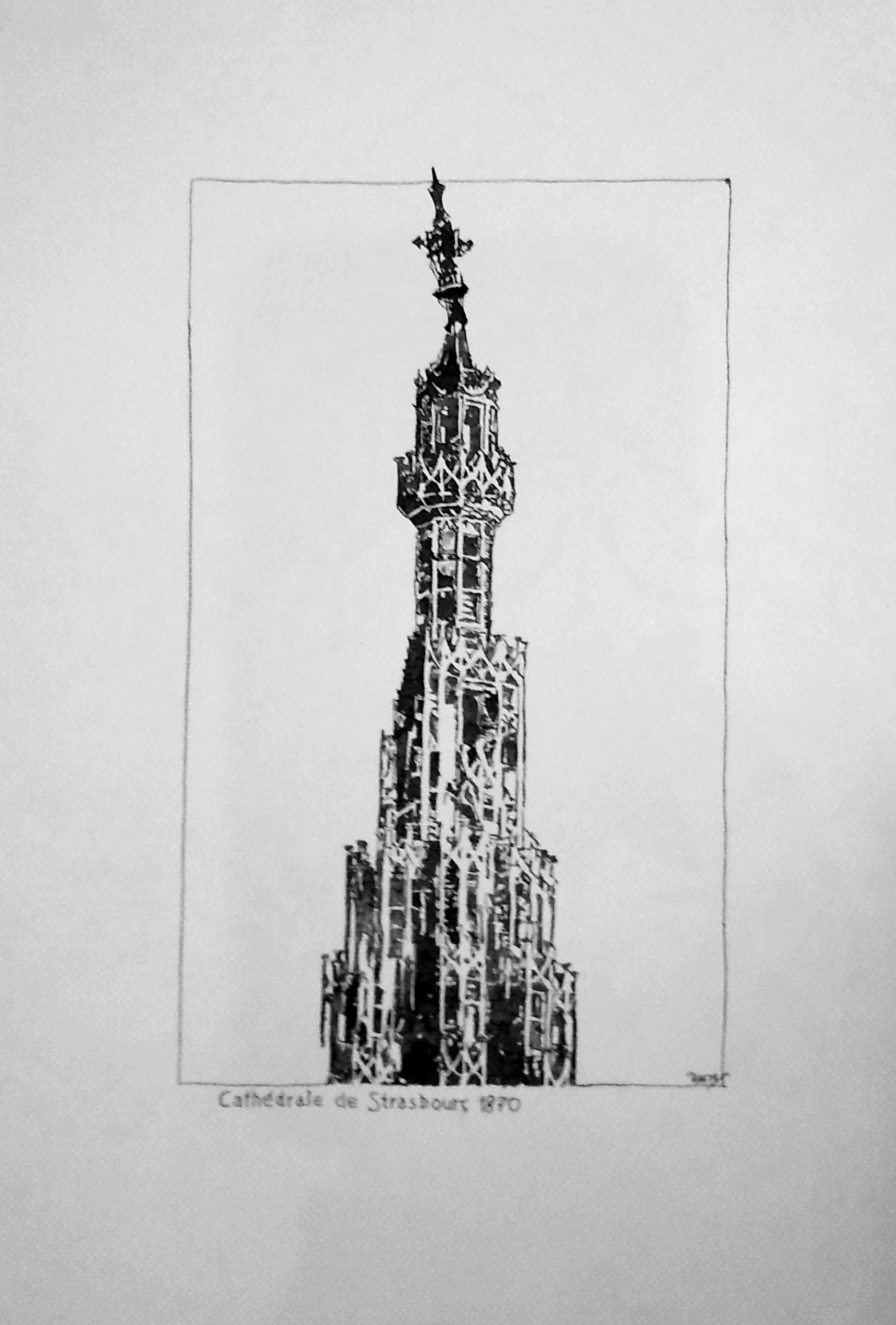 Strasbourg - flèche de la Cathédrale